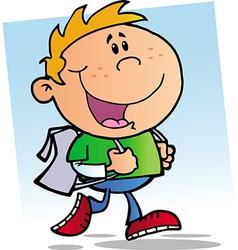 Happy School Boy vector image