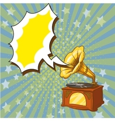old playing gramophone vector image