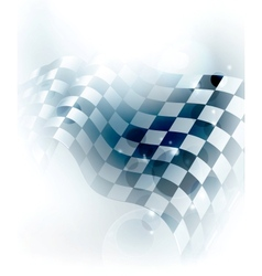 Blue Checkered Background vector image vector image