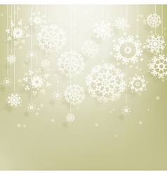 Abstract Christmas with snowflakes EPS 10 vector image