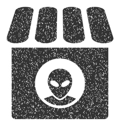 Alien Shop Grainy Texture Icon vector image vector image