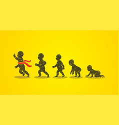 baby running steps graphic vector image