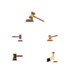 flat icon court set of legal court law and other vector image