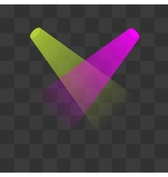 Green and magenta lighting with spotlights vector image