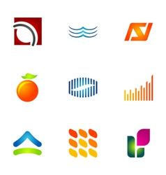 logo design elements set 77 vector image vector image