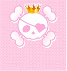 skull place cardwith vector image vector image