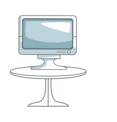 tv table technology entertainment screen device vector image