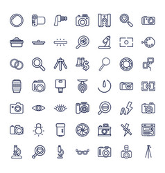 49 lens icons vector