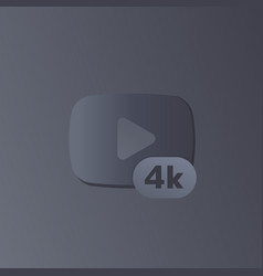 4k video content modern icon vector image