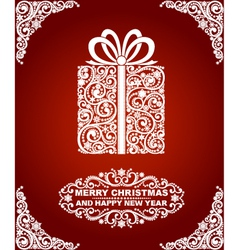Abstract Christmas Gift vector image