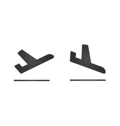 arrivals and departure plane icons simple black vector image