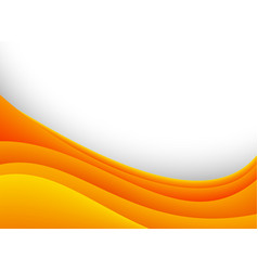 Background template with orange curves vector