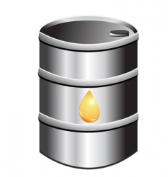 barrel of petrol vector image