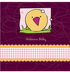 Birth card announcement with kitchen vector