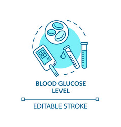 Blood glucose level concept icon vector