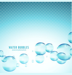 blue water bubbles background vector image