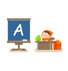 Boy sitting at a Desk vector image