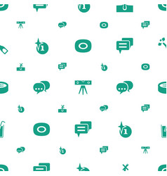 bubble icons pattern seamless white background vector image