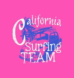 california surfing team vector image