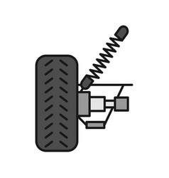 Car suspension color icon vector