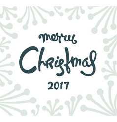 Christmas postcard design vector