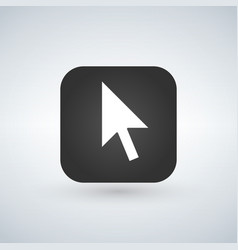 click cursor symbol over application button vector image