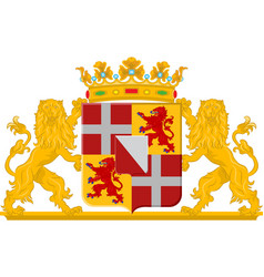 Coat of arms of utrecht netherlands vector