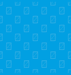 cotton bud pattern seamless blue vector image