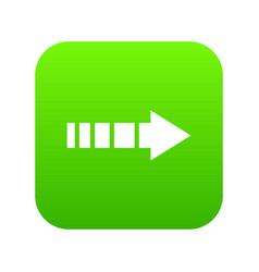 cursor icon digital green vector image
