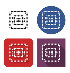 dotted icon safe in four variants with short vector image