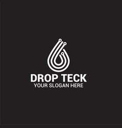 Drop logo template vector