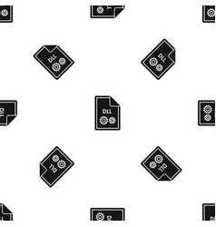 file dll pattern seamless black vector image