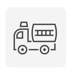 firefighter truck icon vector image