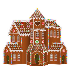 gingerbread big house vector image