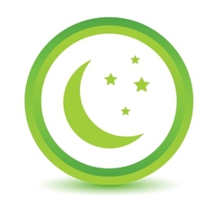 Green moon icon vector