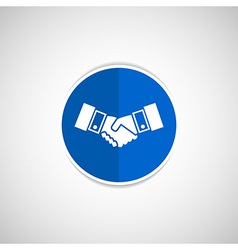 Handshake icon hake meeting business vector image