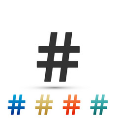 Hashtag icon isolated social media symbol vector