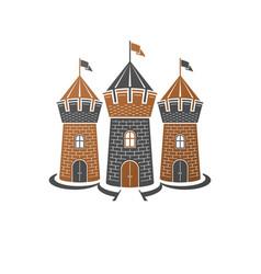 heraldic design element retro style label vector image