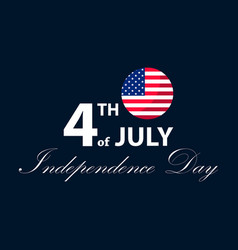 independence day 4th of july patriotic greeting vector image