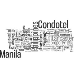 Investors look at philippine condo hotel or vector