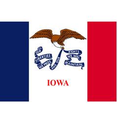 Iowa state flag vector