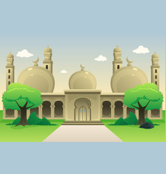 Islamic mosque during daytime vector