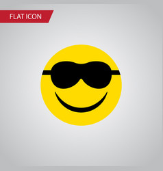 Isolated sunglasses flat icon happy vector