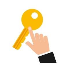 Key security symbol flat icon vector