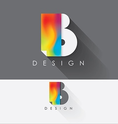 letter b colorful design element for business vector image