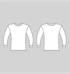 Long sleeve t-shirt vector
