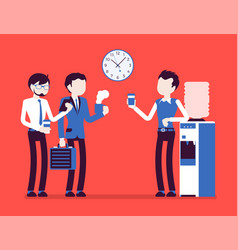 male office cooler chat vector image