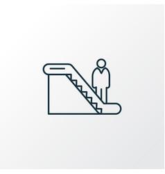man on escalator icon line symbol premium quality vector image