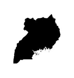 map uganda isolated black on vector image