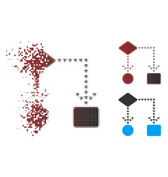 moving pixel halftone algorithm flowchart icon vector image
